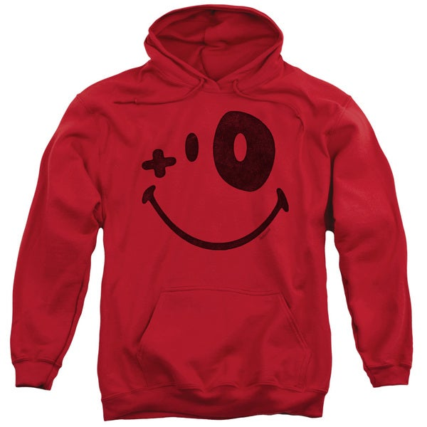 Smiley World/Fight Club Adult Pull-Over Hoodie in Red
