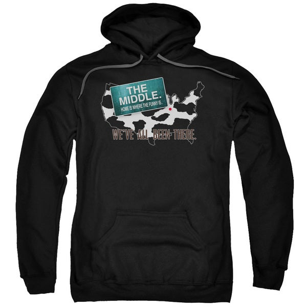 Middle/We'Ve All Been There Adult Pull-Over Hoodie in Black