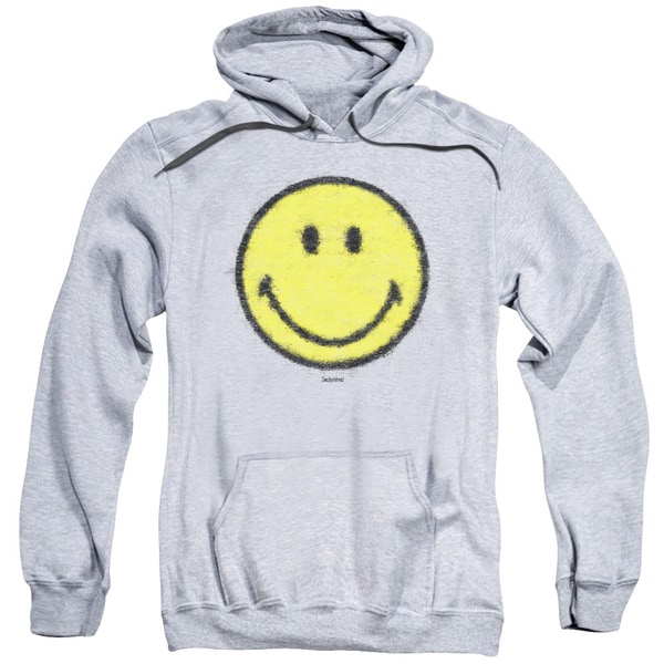 Smiley World/Paper Jam Adult Pull-Over Hoodie in Heather