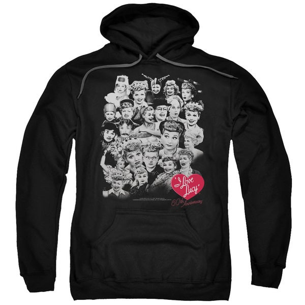 Lucy/60 Years Of Fun Adult Pull-Over Hoodie in Black