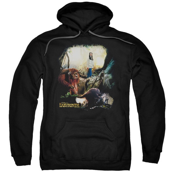Labyrinth/Sarah &Amp; Ludo Adult Pull-Over Hoodie in Black
