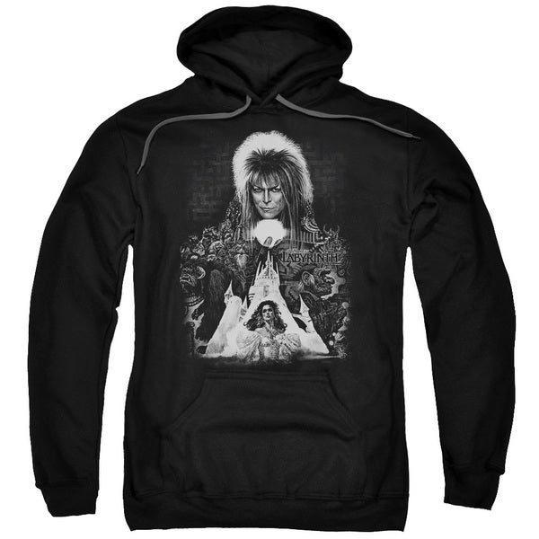 Labyrinth/Castle Adult Pull-Over Hoodie in Black