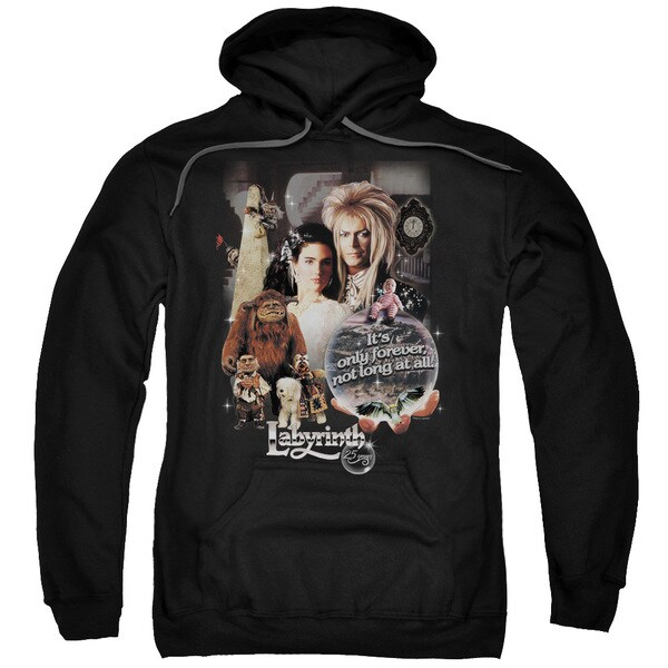 Labyrinth/25 Years Of Magic Adult Pull-Over Hoodie in Black