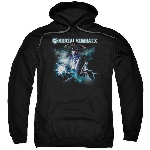 Mortal Kombat X/Raiden Adult Pull-Over Hoodie in Black
