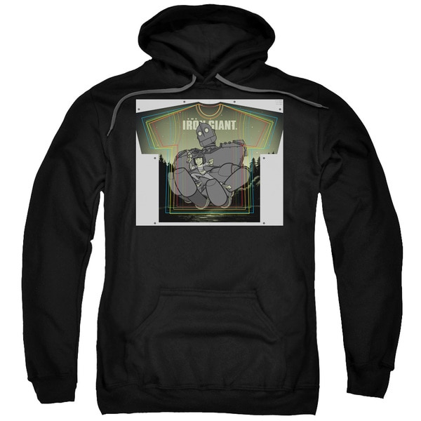 Iron Giant/Helping Hand Adult Pull-Over Hoodie in Black
