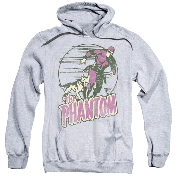 Phantom/Phantom and Dog Adult Pull-Over Hoodie in Heather