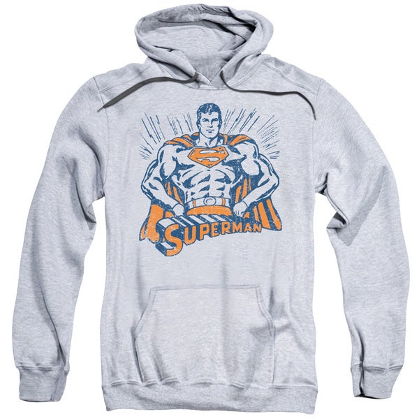 Superman/Vintage Stance Adult Pull-Over Hoodie in Athletic Heather