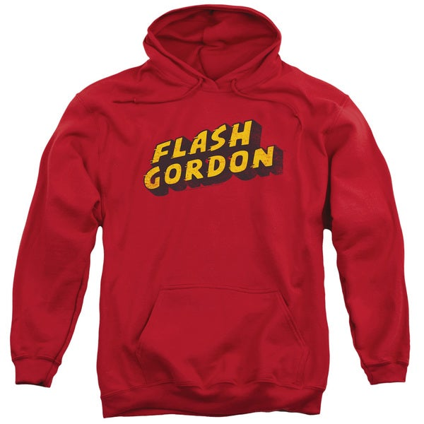 Flash Gordon/Logo Adult Pull-Over Hoodie in Red