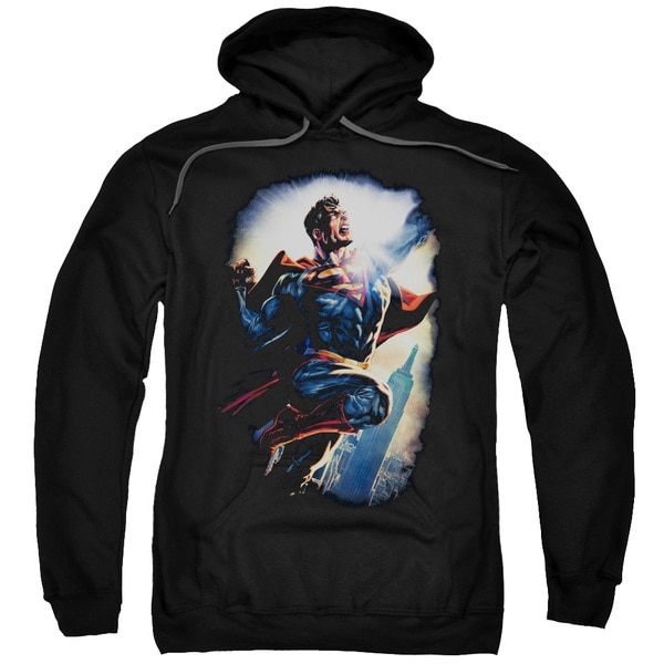 Superman/Ck Superstar Adult Pull-Over Hoodie in Black