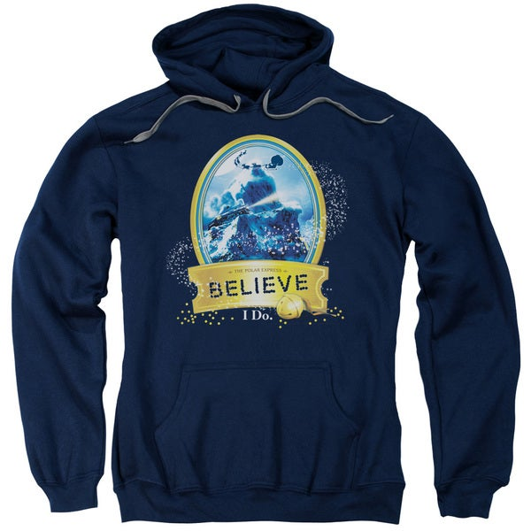 Polar Express/True Believer Adult Pull-Over Hoodie in Navy