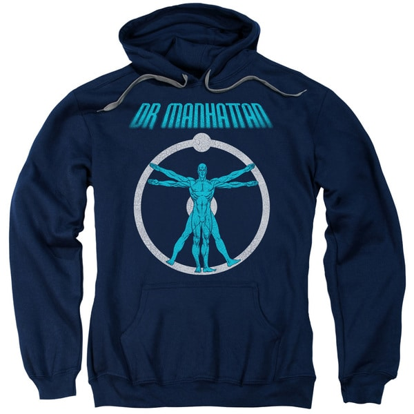 Watchmen/Anatomy Adult Pull-Over Hoodie in Navy