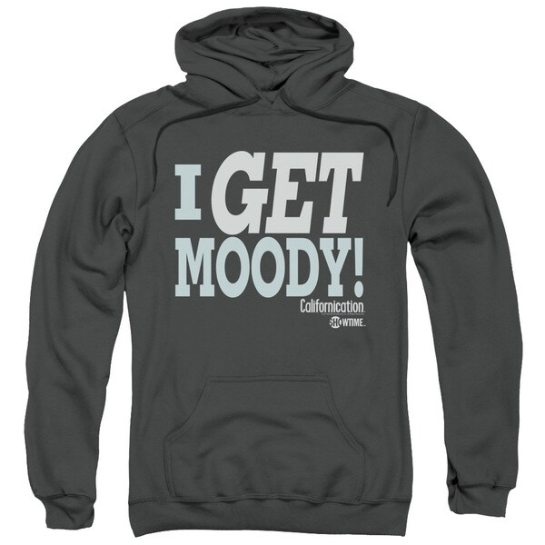 Californication/I Get Moody Adult Pull-Over Hoodie in Charcoal