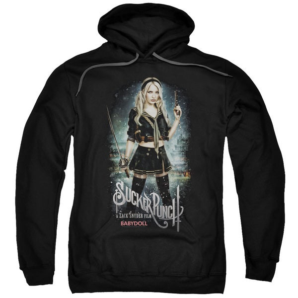 Sucker Punch/Babydoll Poster Adult Pull-Over Hoodie in Black