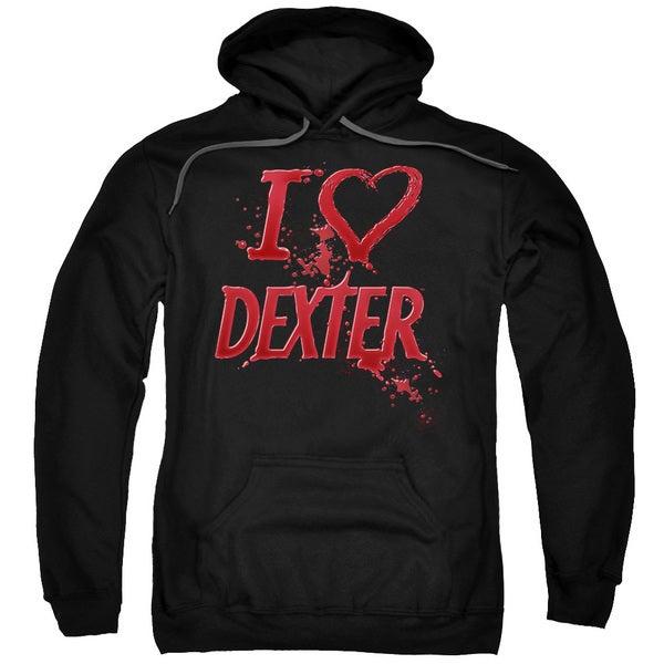 Dexter/I Heart Dexter Adult Pull-Over Hoodie in Black
