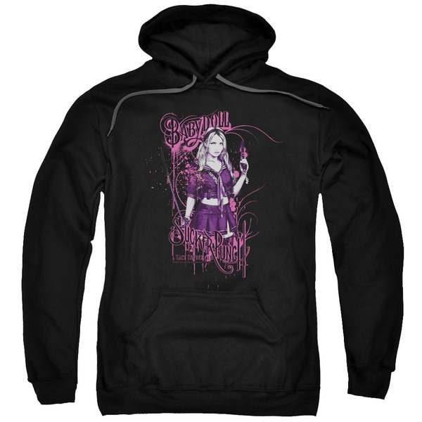 Sucker Punch/Babydoll Adult Pull-Over Hoodie in Black