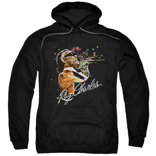Ray Charles/Soul Adult Pull-Over Hoodie in Black