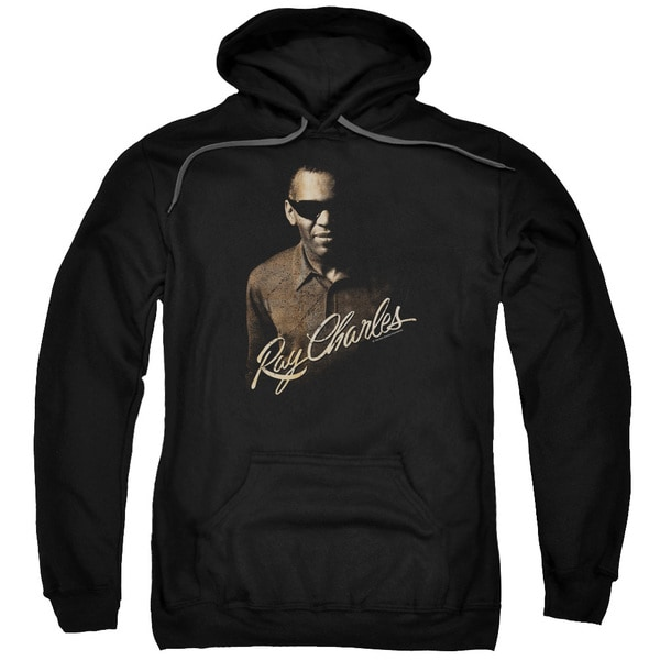 Ray Charles/The Deep Adult Pull-Over Hoodie in Black