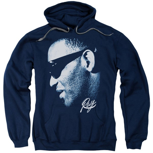 Ray Charles/Blue Ray Adult Pull-Over Hoodie in Navy 19066444