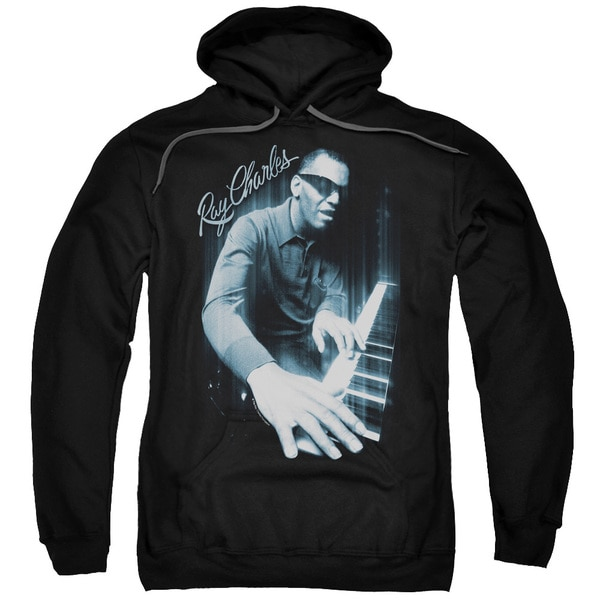Ray Charles/Blues Piano Adult Pull-Over Hoodie in Black 19066511