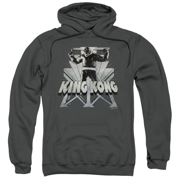 King Kong/8Th Wonder Adult Pull-Over Hoodie in Charcoal