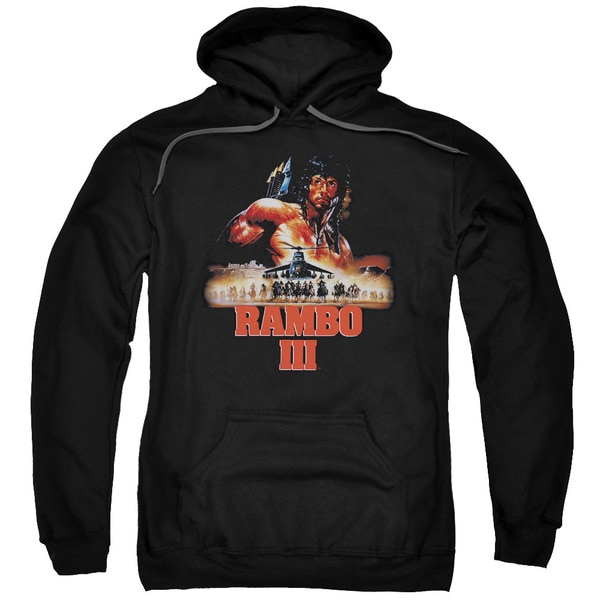 Rambo Iii/French Poster Adult Pull-Over Hoodie in Black