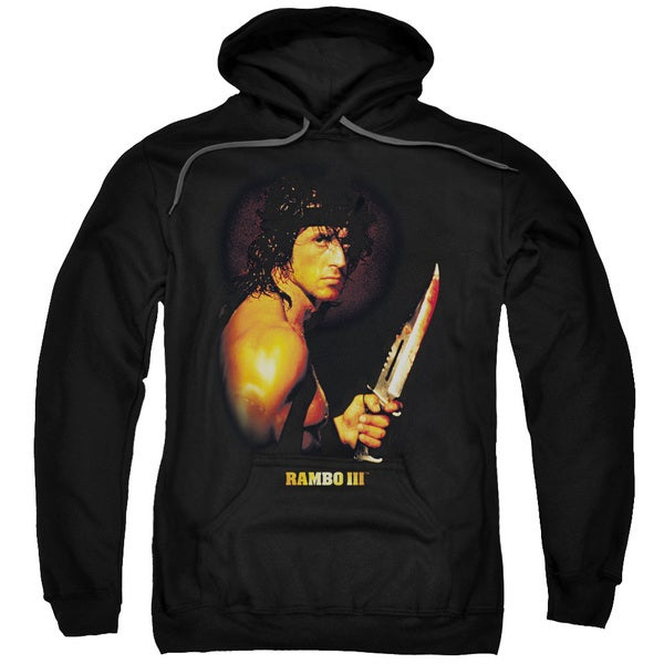 Rambo Iii/Blood Lust Adult Pull-Over Hoodie in Black