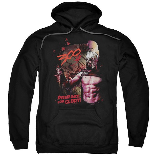 300/Prepare For Glory Adult Pull-Over Hoodie in Black