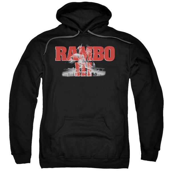 Rambo Iii/John Rambo Adult Pull-Over Hoodie in Black