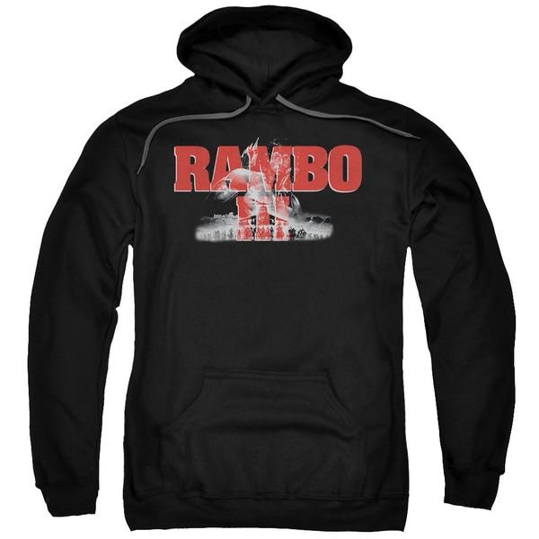 Rambo Iii/John Rambo Adult Pull-Over Hoodie in Black