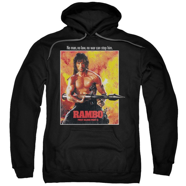 Rambo: First Blood Ii/Poster Adult Pull-Over Hoodie in Black