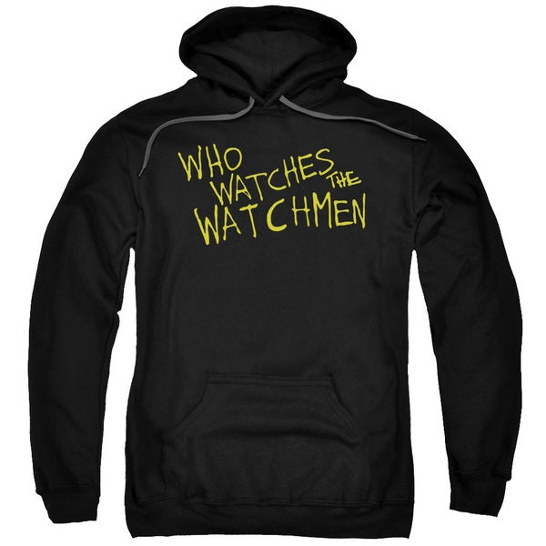 Watchmen/Who Watches Adult Pull-Over Hoodie in Black