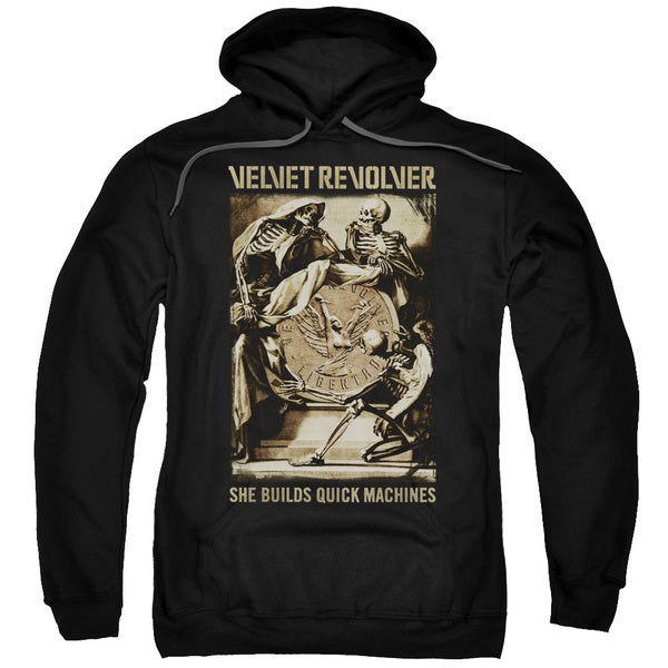 Velvet Revolver/Quick Machines Adult Pull-Over Hoodie in Black