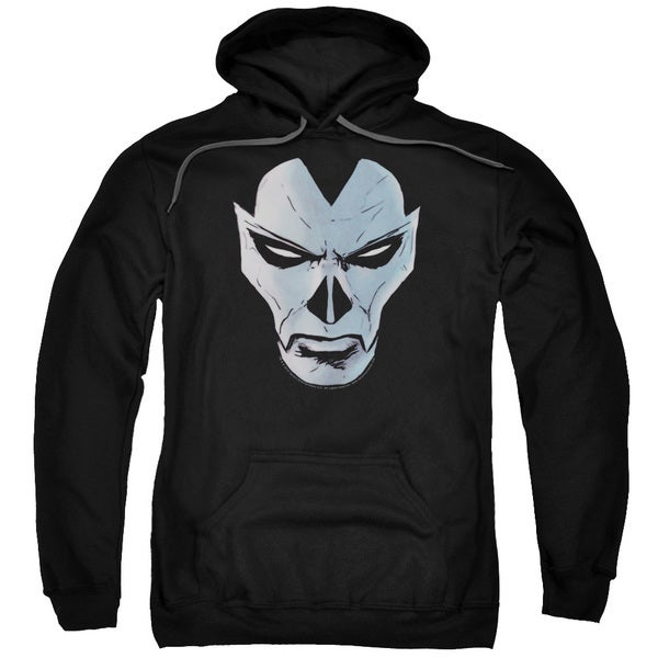 Shadowman/Comic Face Adult Pull-Over Hoodie in Black