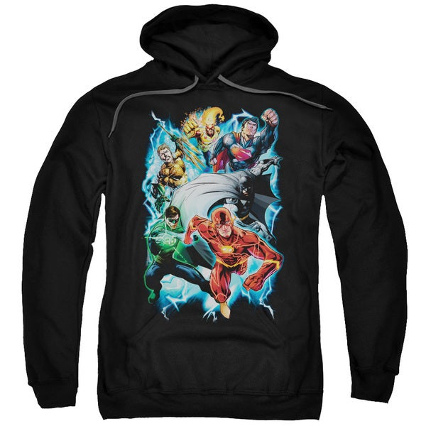 JLA/Electric Team Adult Pull-Over Hoodie in Black