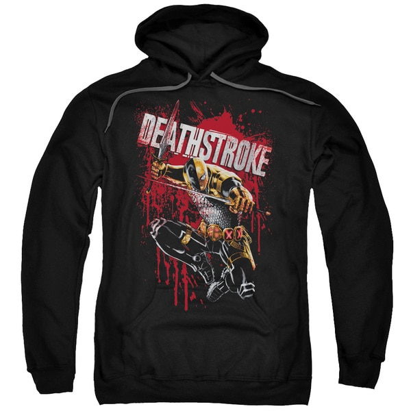 JLA/Blood Splattered Adult Pull-Over Hoodie in Black