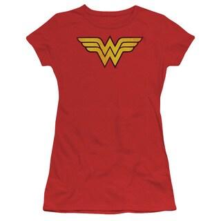 DC/Wonder Woman Logo Dist Junior Sheer in Red