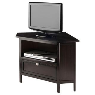 Winsome Zena Espresso Wood Corner TV Stand