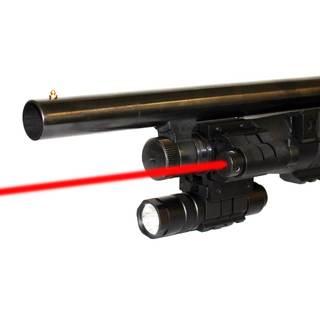 150-lumen LED Tactical Compact Flashlight with Red Laser Kit for 12-gauge Shotguns