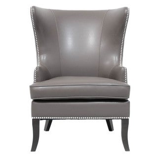 Stephen Wing Faux Leather and Wood Chair