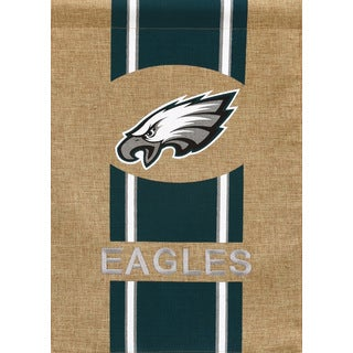 Philadelphia Eagles Burlap Flag
