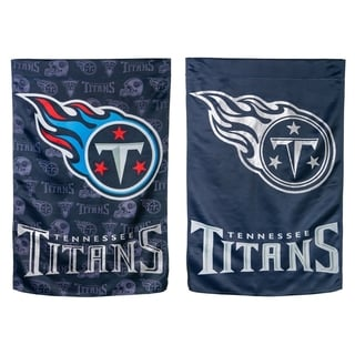 Tennessee Titans Suede Glitter Double-sided Flag