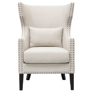 Gray Manor Bethany Off-White Wood/Linen Club Chair