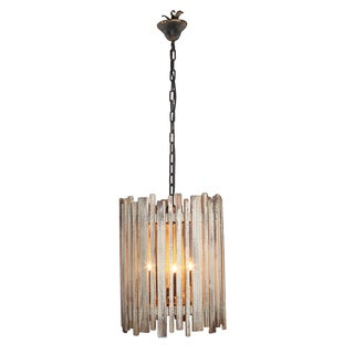 Slatted Wood Chandelier
