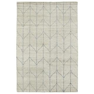 "Handmade Collins Sand & Grey Nomad Rug (9'6"" x 13'0)"