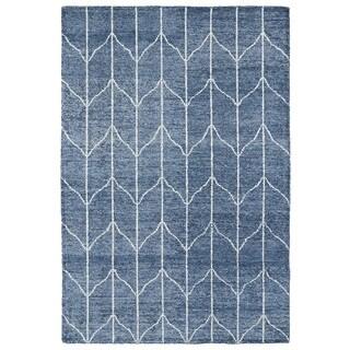 "Handmade Collins Denim Blue & Ivory Nomad Rug (9'6"" x 13'0)"