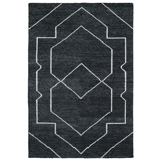 "Handmade Collins Charcoal & Ivory Nomad Rug (9'6"" x 13'0)"