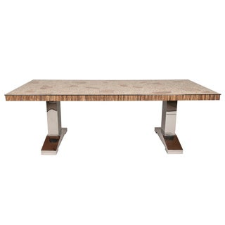 Gray Manor Charlie Cappuccino Wood Dining Table