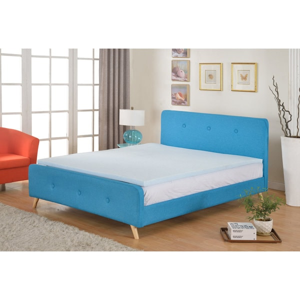 High Density 2-inch Gel Memory Foam Mattress Topper