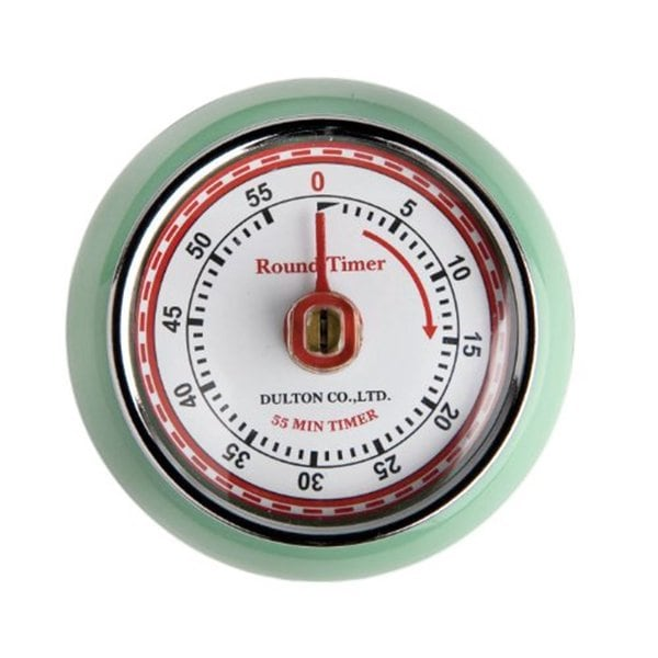 Fox Run Mint Green Retro Magnetic Kitchen Timer