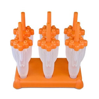 Tovolo Rocket Pop Orange Plastic Molds (Pack of 6)